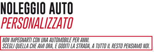 Noleggio auto Personalizzato